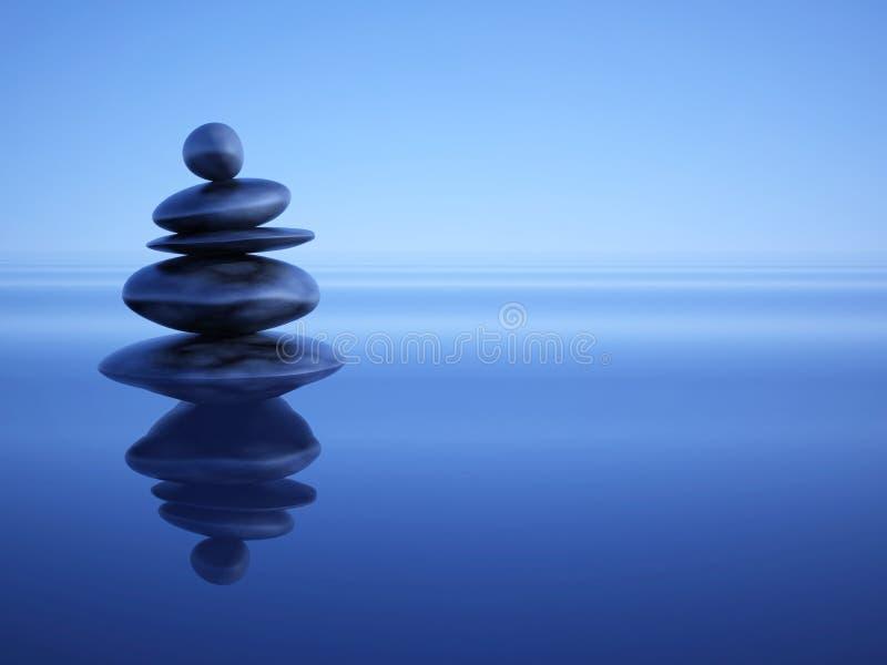 Piedras del zen stock de ilustración