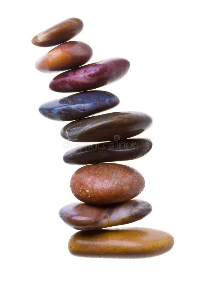 Piedras del zen en blanco imágenes de archivo libres de regalías
