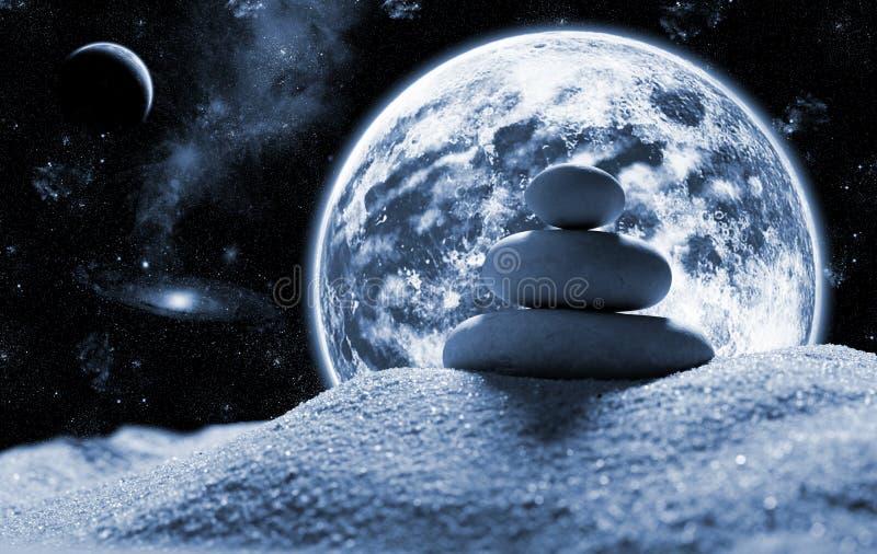Piedras del zen en espacio foto de archivo imagen de - Espacio zen ...