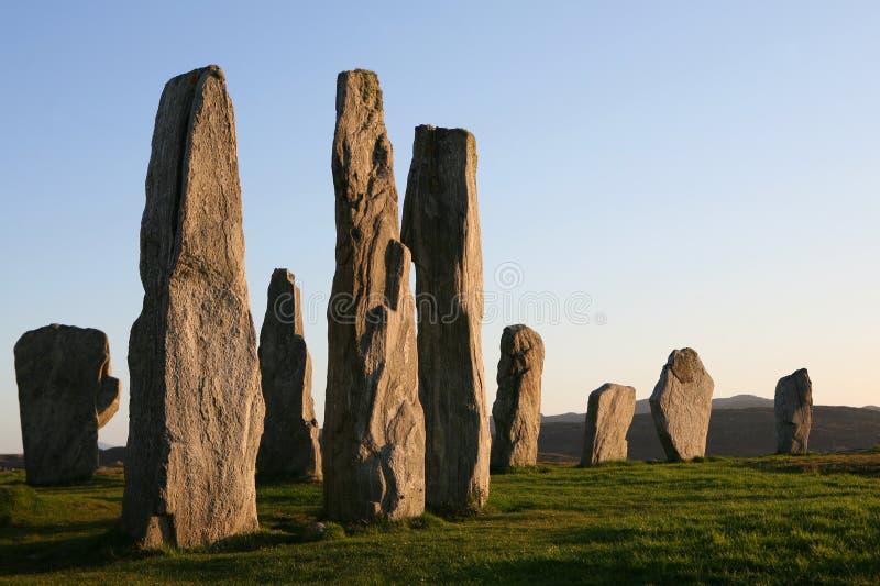 Piedras derechas de Callanish fotografía de archivo libre de regalías