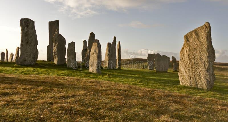 Piedras derechas del callanish fotografía de archivo