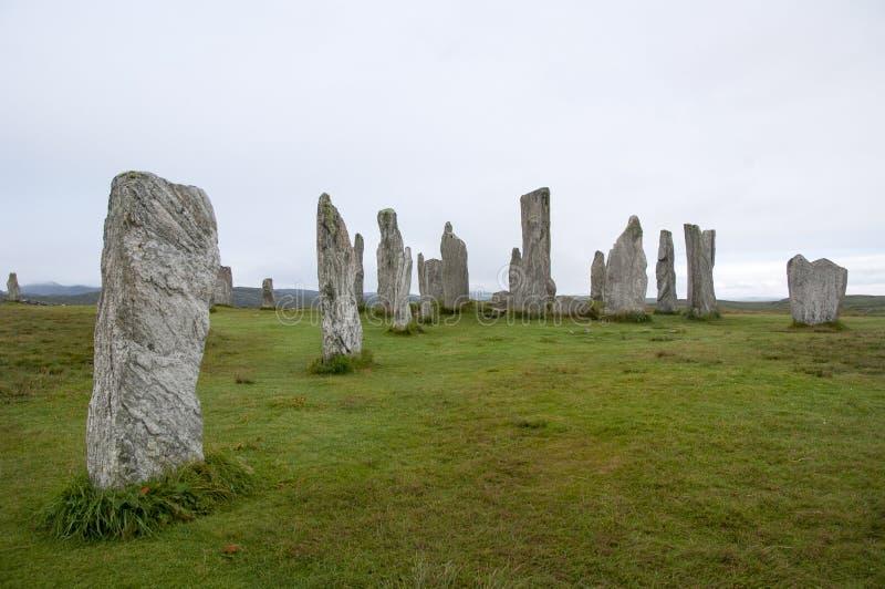 Piedras derechas en Callanish imagen de archivo