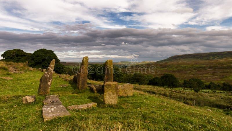 Piedras derechas - North Yorkshire amarra - Reino Unido fotos de archivo libres de regalías