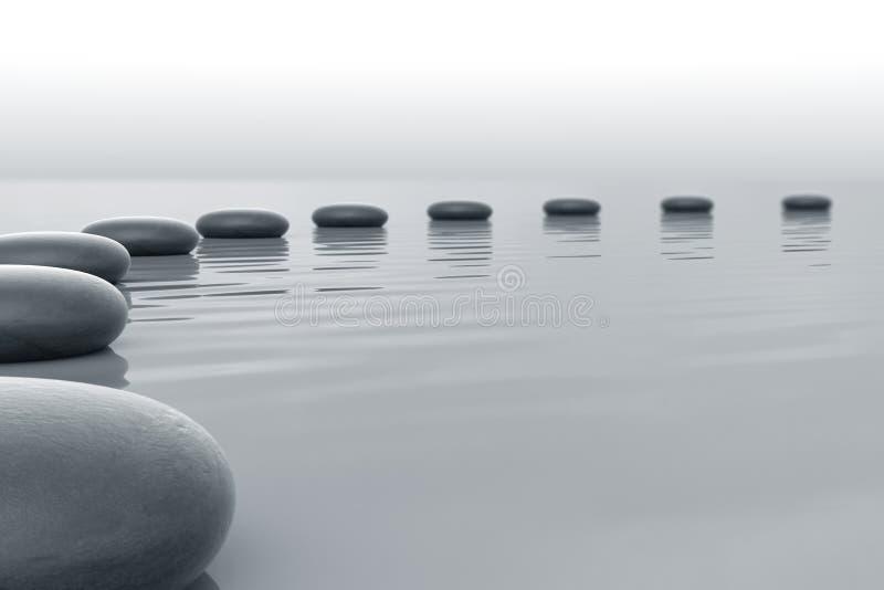 Piedras en agua ilustración del vector