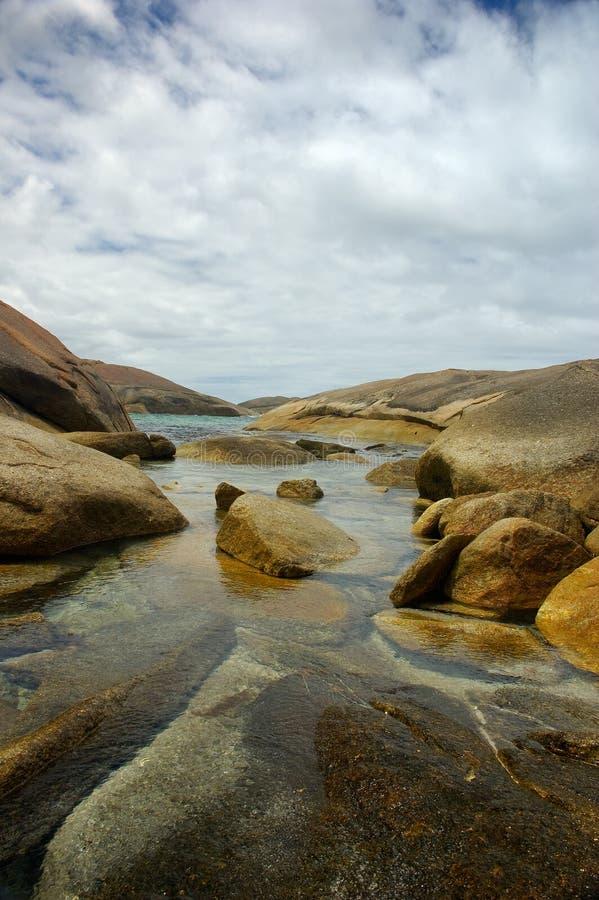 Piedras en el agua fotografía de archivo libre de regalías