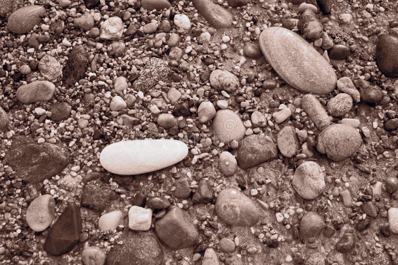 Piedras en una playa imagen de archivo