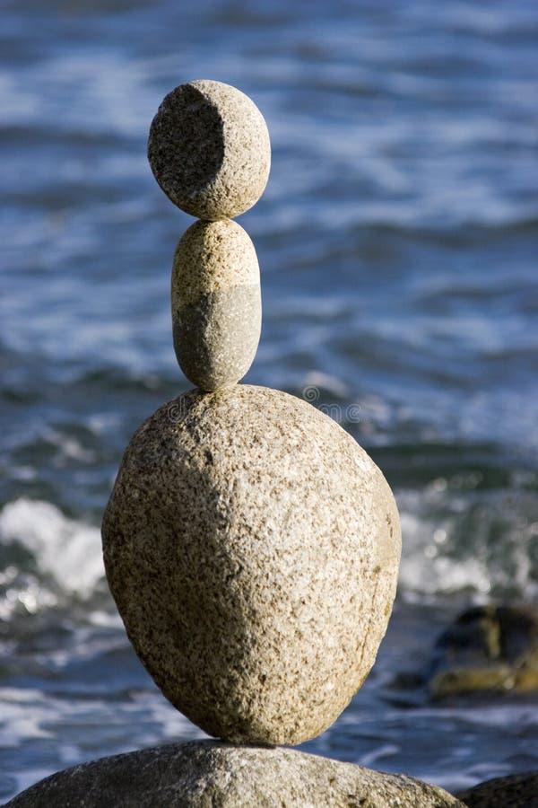 Piedras equilibradas foto de archivo libre de regalías