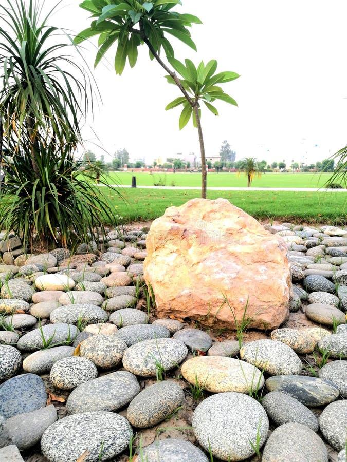 Piedras grandes y pequeñas en parque fotografía de archivo