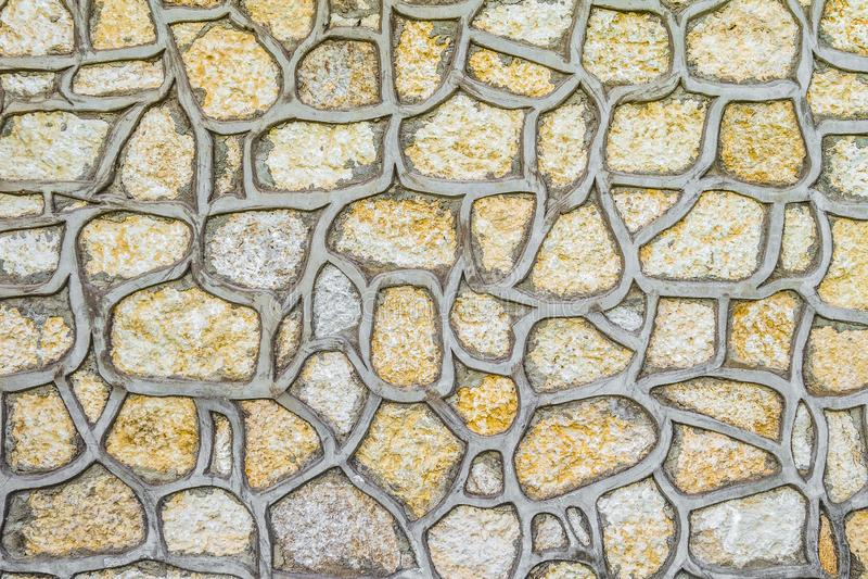 Piedras naturales para la construcción del revestimiento imagen de archivo libre de regalías