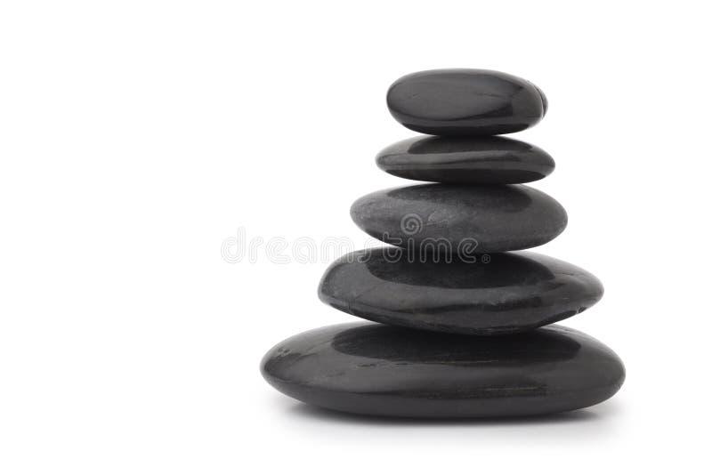 piedras negras del masaje imagenes de archivo