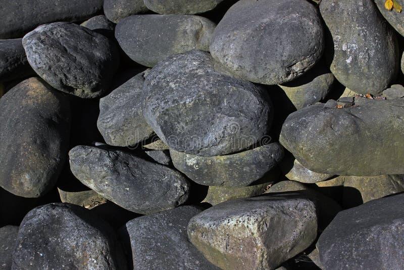 Piedras ovales grandes foto de archivo libre de regalías
