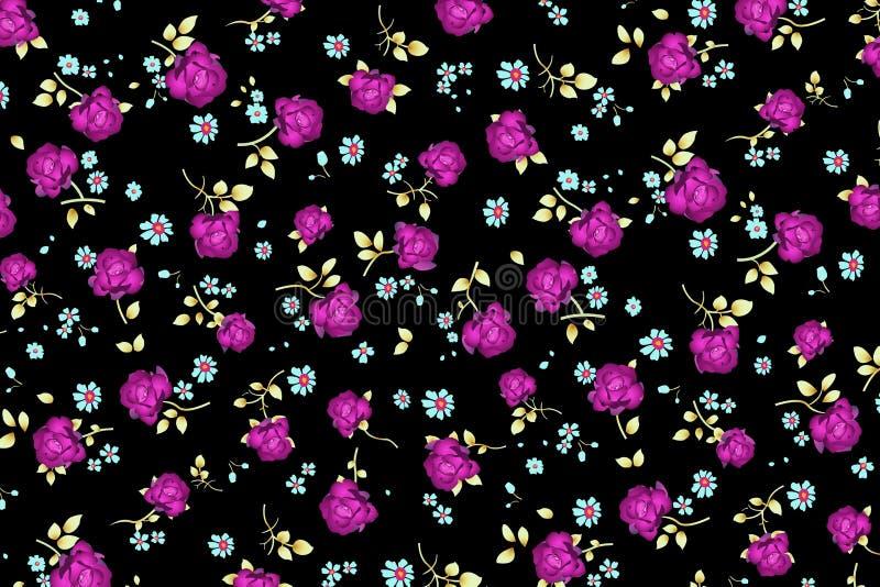 Piedras púrpura sin fisuras en el fondo negro. Dise?o de la ilustraci?n libre illustration