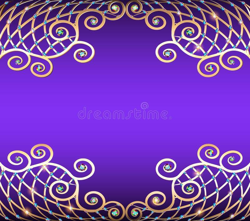 Piedras preciosas de Backgroundwith, de oro libre illustration