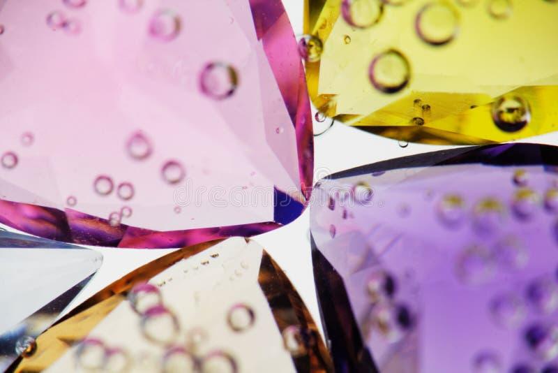 Piedras preciosas de Jewerly con las burbujas del agua. imágenes de archivo libres de regalías
