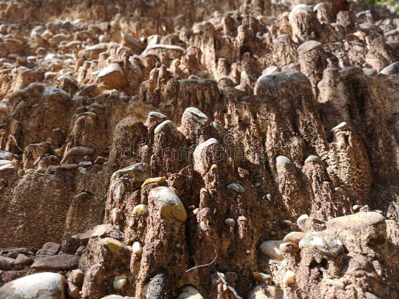 Piedras que sorprenden fondo, detalle y primer imágenes de archivo libres de regalías