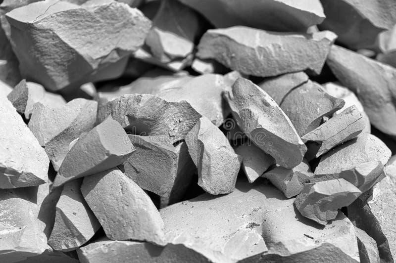 Piedras quebradas imagen de archivo libre de regalías