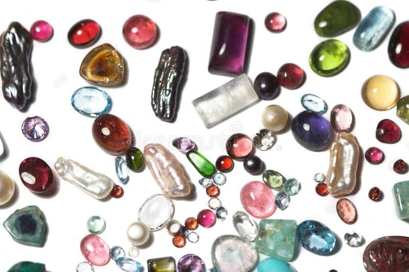 Piedras semipreciosas foto de archivo libre de regalías
