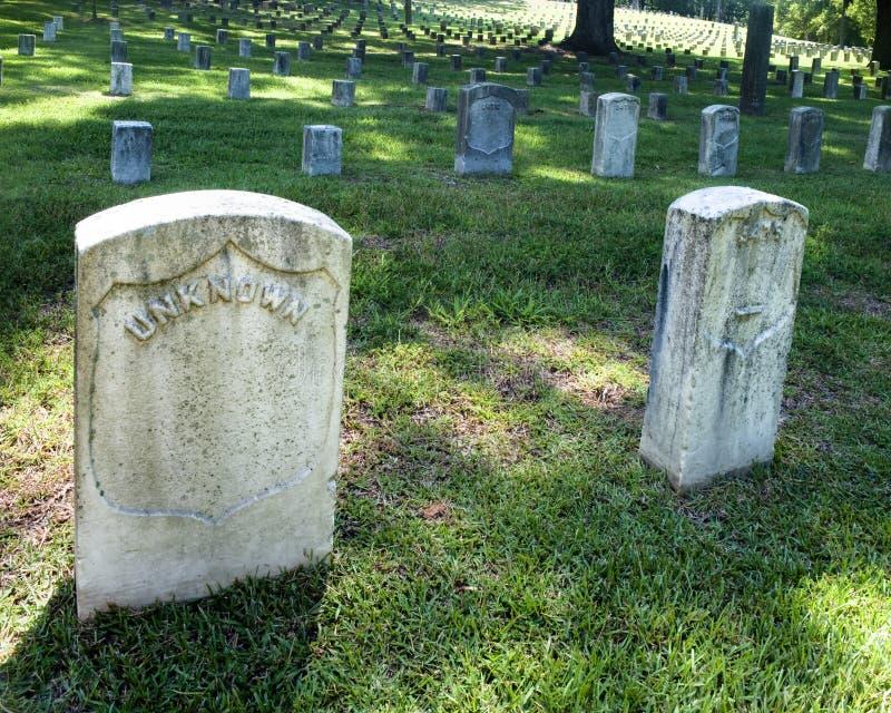 Piedras sepulcrales de la guerra civil imagen de archivo