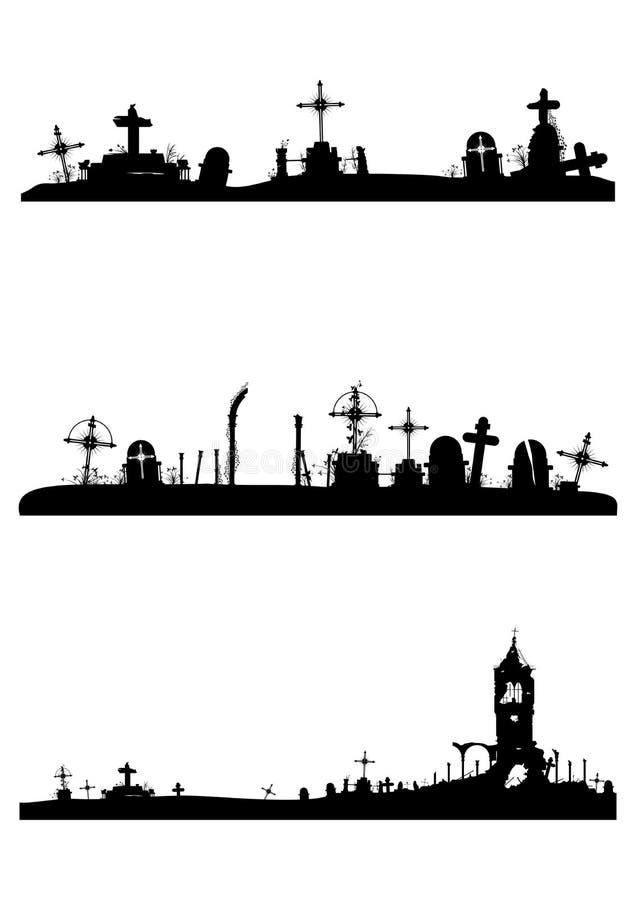 Piedras sepulcrales del cementerio libre illustration