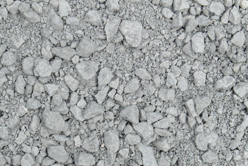 Piedras y modelo grises polvorientos y sucios de la arena foto de archivo libre de regalías