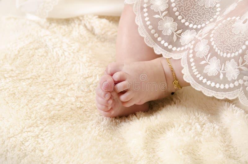 Pieds de bébé image stock