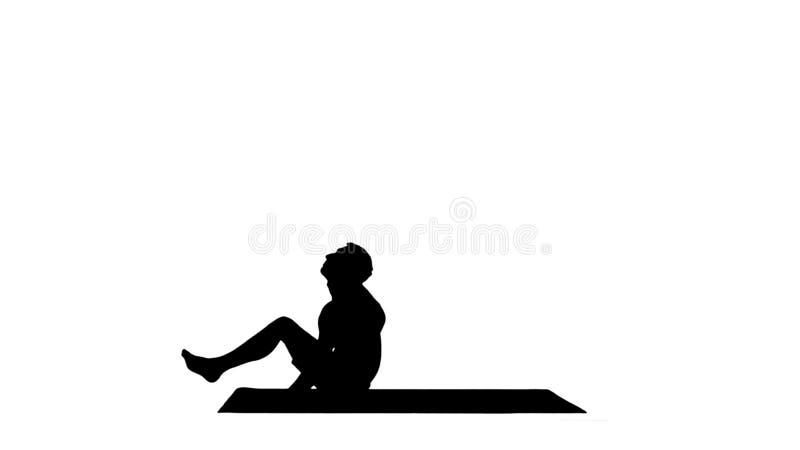 Pieds de Dwi Pada Sirsasana de yoga de silhouette derri?re la pose principale image libre de droits