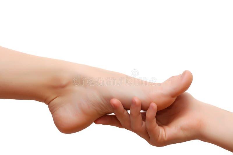 pieds de main de femme de l'homme s image libre de droits