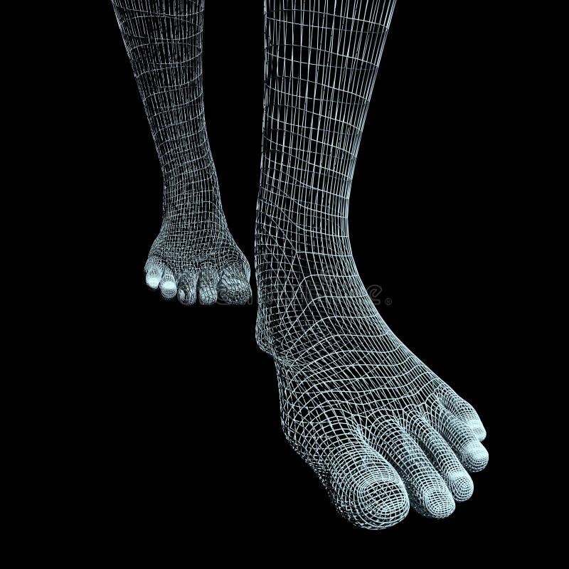 Pieds humains abstraits illustration libre de droits