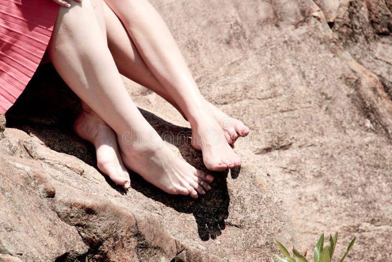 Pieds, jambes image stock