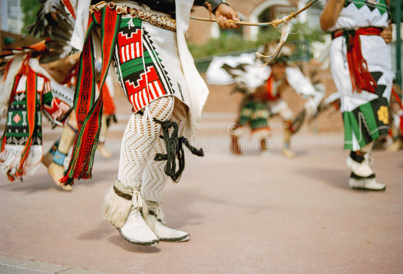 Pieds traditionnels de danseurs de Navajo photo stock