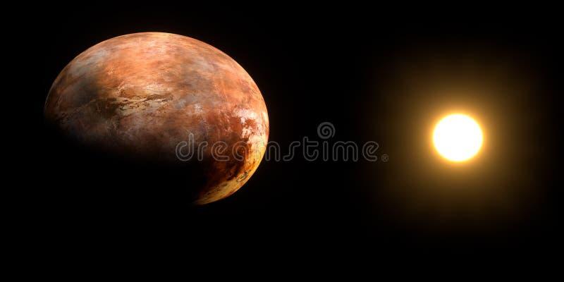 Piekąca Gorąca Okropna Szpotawa, Wyparowywająca planeta, Niezwykle realistyczna i szczegółowa 3d ilustracja Strza? od przestrzeni zdjęcie stock