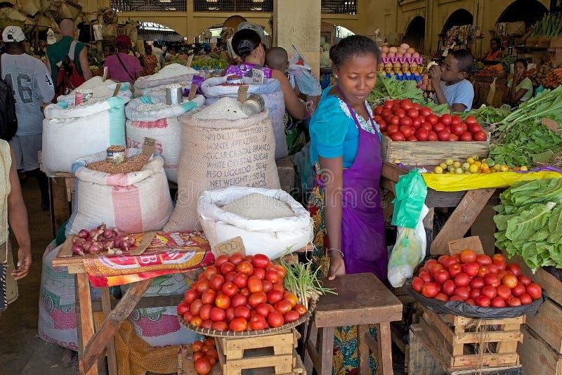 Piekła Ville rynek, Nosaty Był, Madagascar zdjęcia stock