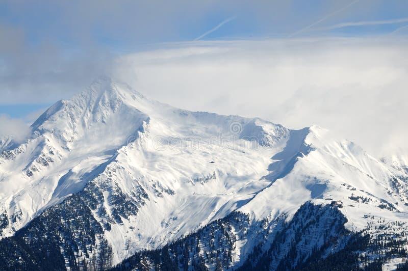 Piek della montagna in Zillertal, Austria immagini stock