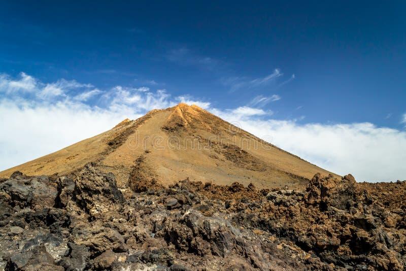 Piek van de vulkaan Gr Teide, Tenerife, Canarische Eilanden stock afbeelding
