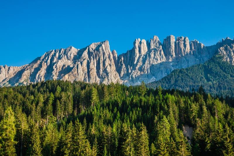 Piek van latemar in Zuid-Tirol, Dolomiet, Italië stock afbeelding