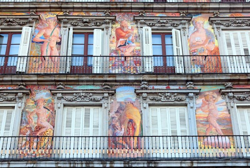 piekarni domowy Madrid mayor plac obraz royalty free