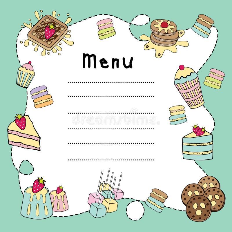 Download Piekarni doodle menu deska ilustracja wektor. Ilustracja złożonej z łasowanie - 53786337