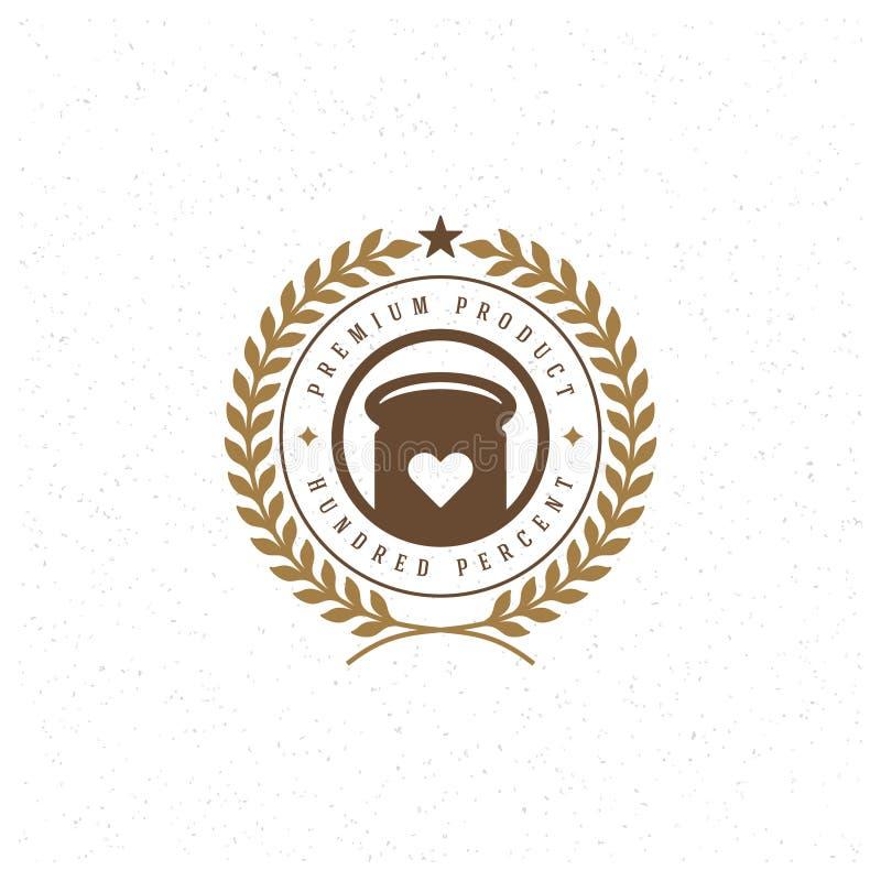 Piekarnia loga Sklepowy szablon Wektorowy projekta elementu rocznika styl dla logotypu, etykietka, odznaka, emblemat royalty ilustracja
