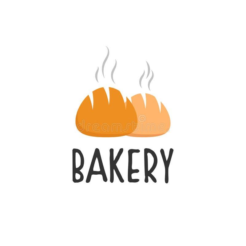 Piekarnia logo projekty, nowożytny logo typ ilustracji