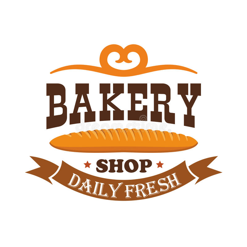 piekarnia sklep Dzienny świeży piec pszeniczny baguette ilustracja wektor