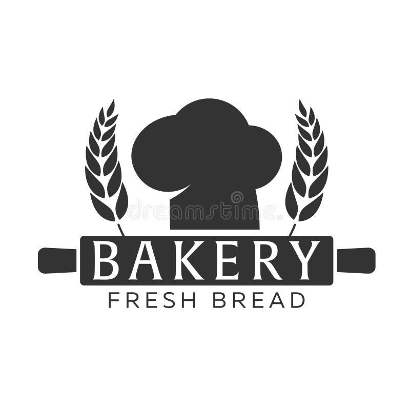 Piekarnia sklepowy emblemat, etykietki, logo i projektów elementy, chlebowa świeża banatka również zwrócić corel ilustracji wekto ilustracja wektor