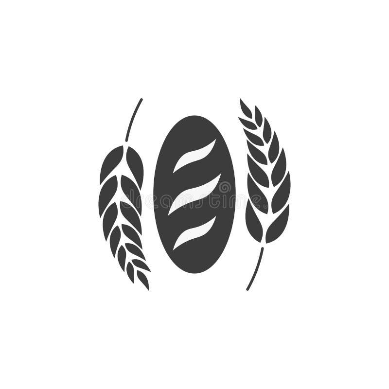 Piekarnia sklepowy emblemat, etykietki, logo i projektów elementy, chlebowy świeży bochenek również zwrócić corel ilustracji wekt ilustracja wektor