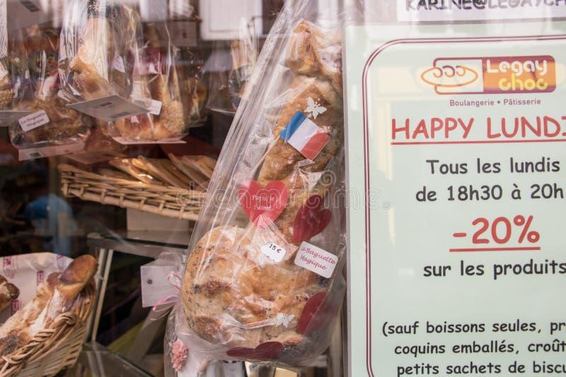 Piekarnia w Le Marais ruciany Sainte Croix De Los angeles Bretonnerie, Paryski IIIe fotografia royalty free