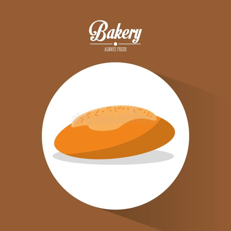 Piekarnia zawsze świeży chleb z chesse wyśmienicie ilustracja wektor