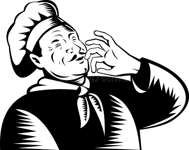 piekarniana szef kuchni kucharza samiec ilustracji