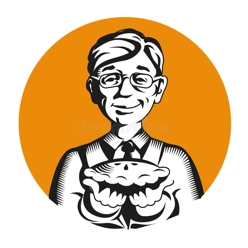 Piekarniana wektorowa ikona loga maskotka ilustracji