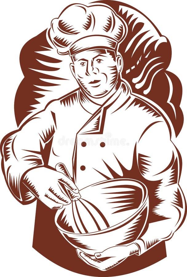 piekarniany pucharu szef kuchni kucharz royalty ilustracja