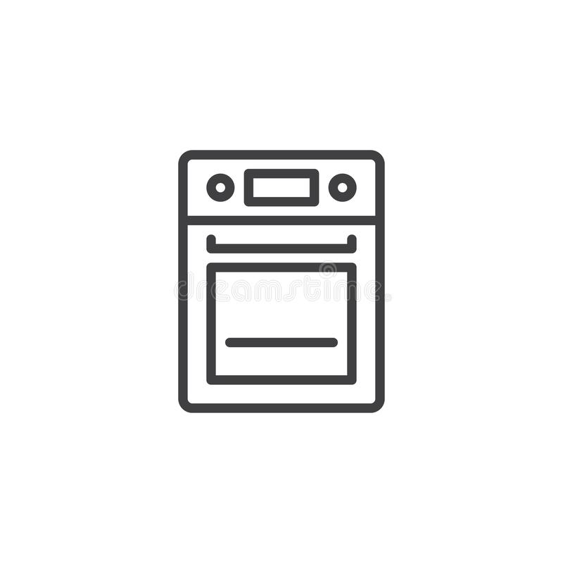 Piekarnik kreskowa ikona royalty ilustracja