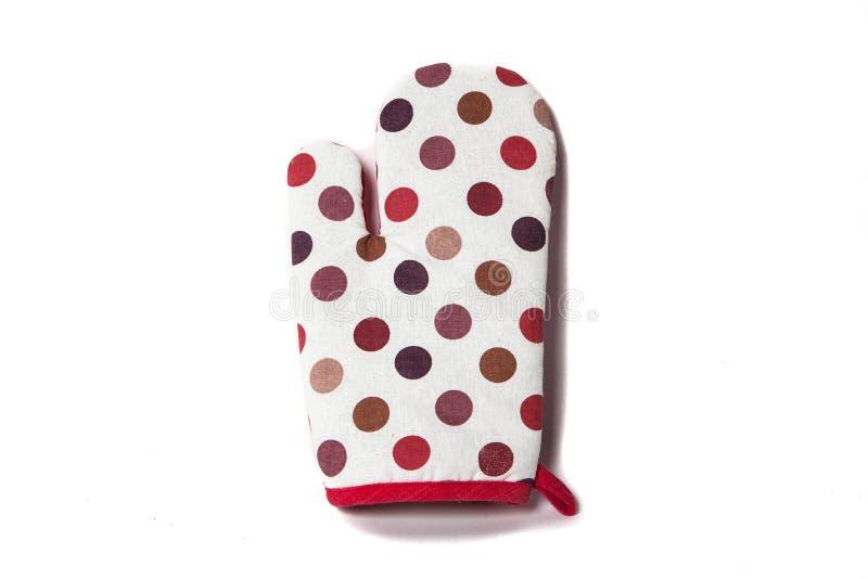 Piekarnik rękawiczki w kolor polki kropce zdjęcie royalty free