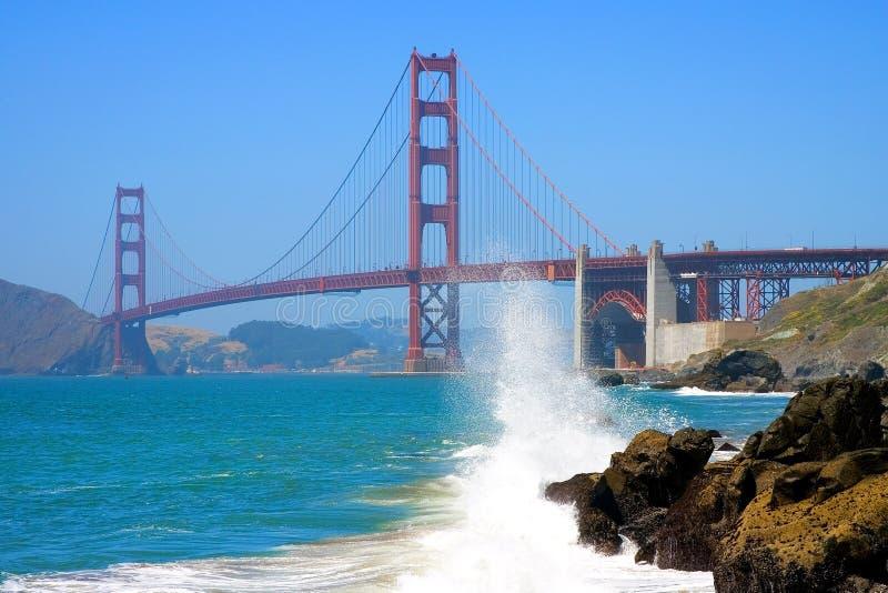 piekarz plaży mosta brama złota zdjęcie stock